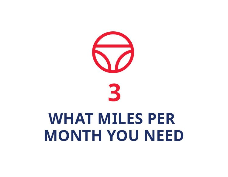What miles per month you need