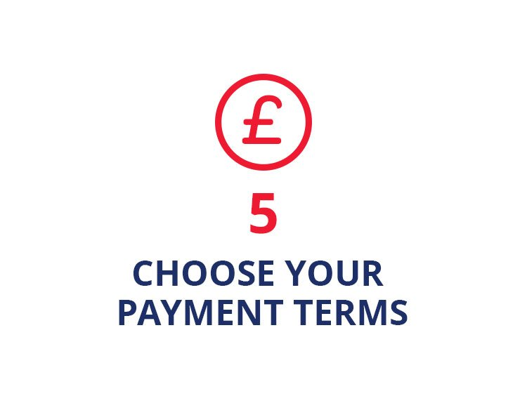 Choose your month by month payment terms