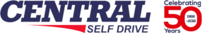 Central Self Drive 50 Years Logo