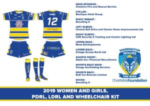 Women & Girls, PDRL, LDRL & Wheelchair Team kit for 2019