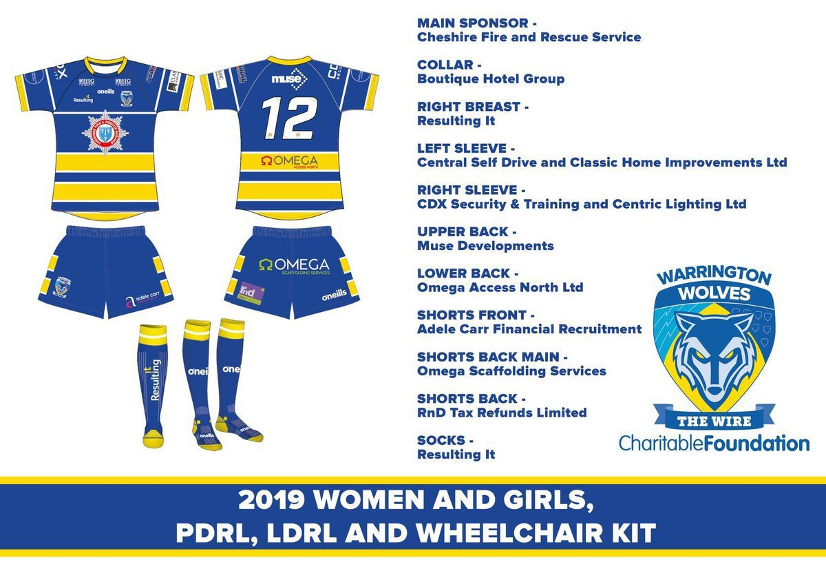 Women and Girls, PDRL, LDRL and Wheelchair Team kit for the 2019 season!