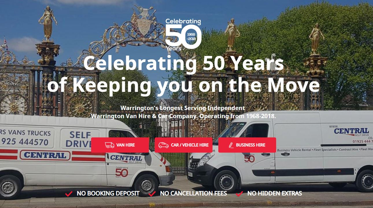 Central Self Drive, 50 Years in Business