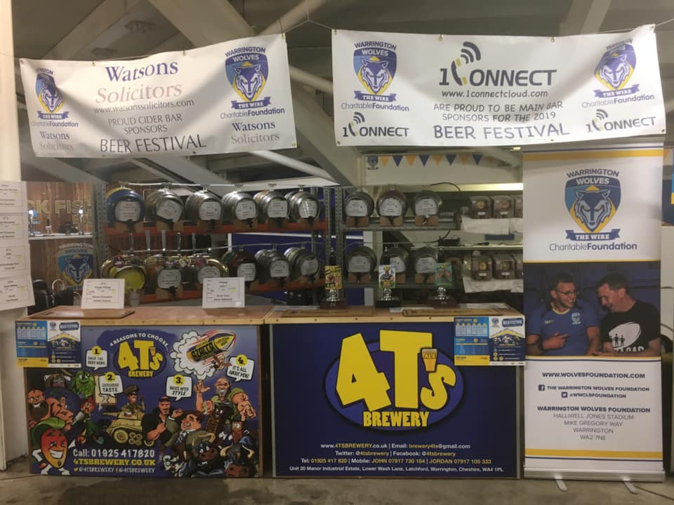 Central Self Drive at Warrington Wolves Beer Festival - Gin Sponsor