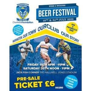 Warrington Wolves Beer Festival - Gin Sponsor