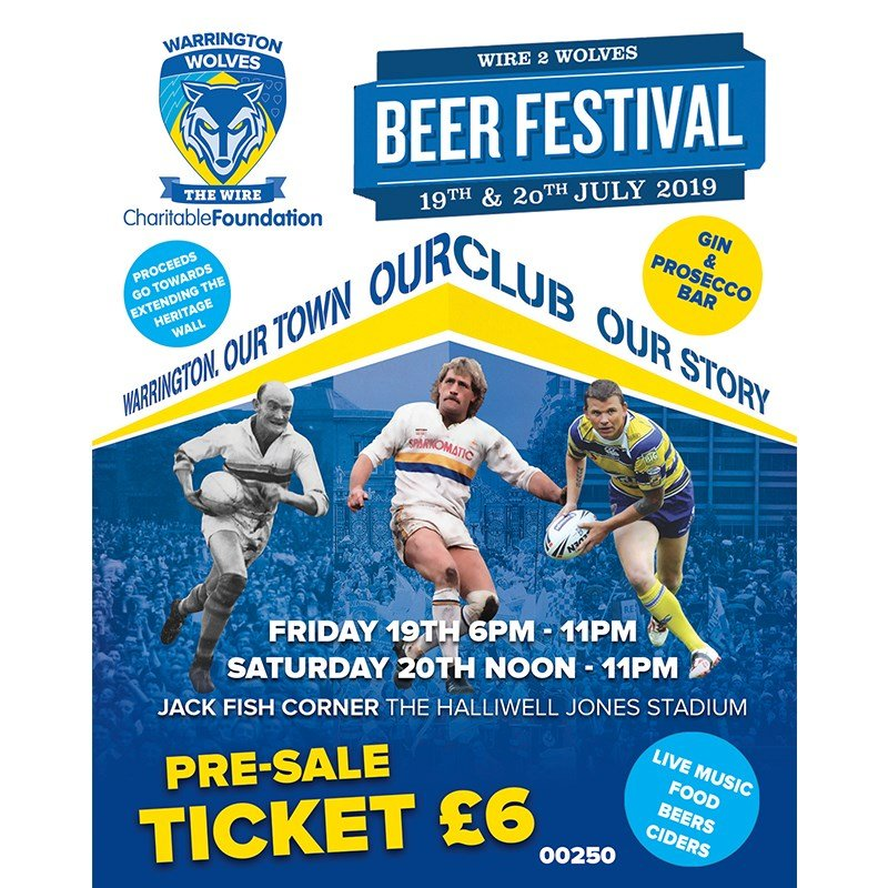 Warrington Wolves Beer Festival - Gin Sponsor